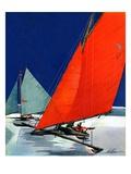 """""""Iceboats Racing """"February 18  1939"""
