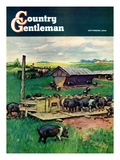 """Pigs Feeding "" Country Gentleman Cover  September 1  1946"