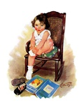 """Toddler in Rocker ""November 12  1932"