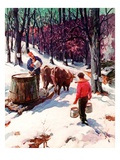 """Harvesting Maple Sap ""March 1  1940"