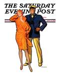 """Dapper Couple "" Saturday Evening Post Cover  July 27  1929"