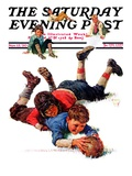 """Big Tackle "" Saturday Evening Post Cover  November 15  1930"