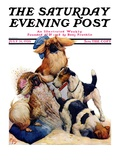 """Digging Doggy "" Saturday Evening Post Cover  July 31  1926"