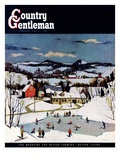 """Skating on Farm Pond "" Country Gentleman Cover  January 1  1950"