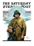"""Storm at Sea "" Saturday Evening Post Cover  November 6  1926"