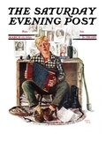 """""""Daydreaming Accordianist """" Saturday Evening Post Cover  March 13  1926"""