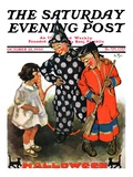 """Trick-Or-Treat "" Saturday Evening Post Cover  October 25  1930"