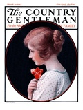 &quot;Woman and a Rose &quot; Country Gentleman Cover  March 22  1924