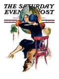 """Hat Shop "" Saturday Evening Post Cover  November 30  1929"