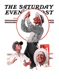 """Fly Ball "" Saturday Evening Post Cover  July 28  1923"