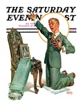 """Practice Proposal "" Saturday Evening Post Cover  April 30  1927"