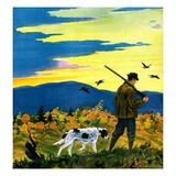 """Duck Hunter and Dog ""October 1  1929"