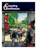 """Milking Time "" Country Gentleman Cover  July 1  1946"