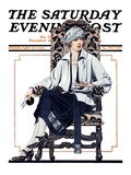 """""""Seated Woman """" Saturday Evening Post Cover  February 17  1923"""