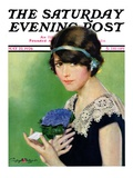 """Purple Posey "" Saturday Evening Post Cover  May 22  1926"
