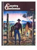 """Cowboy at End of the Day "" Country Gentleman Cover  June 1  1947"