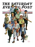 """Boy's Baseball Team "" Saturday Evening Post Cover  April 17  1926"