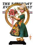 """Easter Dutch Girl "" Saturday Evening Post Cover  April 3  1926"