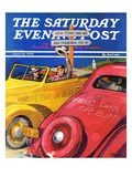 """World's Fair or Bust "" Saturday Evening Post Cover  April 22  1939"