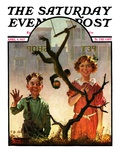 """Pet Shop Monkey "" Saturday Evening Post Cover  April 9  1927"