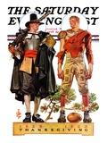 """Thanksgiving  1628/1928 "" Saturday Evening Post Cover  November 24  1928"