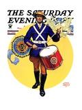 """American Legion Drummer "" Saturday Evening Post Cover  October 7  1933"