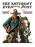 """Flat Tire "" Saturday Evening Post Cover  May 8  1926"