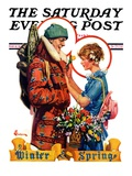 """Winter and Spring "" Saturday Evening Post Cover  March 10  1928"