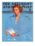 """College Requirements "" Saturday Evening Post Cover  September 23  1933"