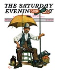 """Traffic Cop "" Saturday Evening Post Cover  June 5  1926"