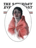 """Woman in Shawl "" Saturday Evening Post Cover  June 16  1923"