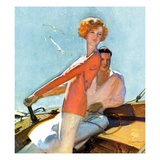 """Couple Sailing ""August 1  1927"