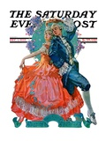 """Dancing Couple "" Saturday Evening Post Cover  December 1  1928"