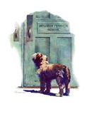 """Dog Waiting for Schoolboy ""September 10  1938"