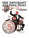 """Hot Tamale Five "" Saturday Evening Post Cover  August 22  1925"