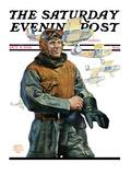 """Biplane Pilot "" Saturday Evening Post Cover  October 9  1926"