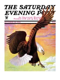 """Soaring Bald Eagle "" Saturday Evening Post Cover  October 28  1933"