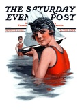 """Toy Sailboat "" Saturday Evening Post Cover  August 1  1925"