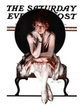 """Waiting "" Saturday Evening Post Cover  April 14  1923"