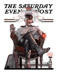 &quot;His Majesty the Janitor &quot; Saturday Evening Post Cover  January 13  1923