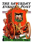 """Valentine Ride "" Saturday Evening Post Cover  February 11  1928"