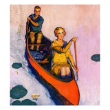 """Couple Paddling Caone ""August 1  1929"
