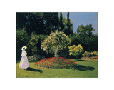 Woman in the Garden  Sainte-Adresse  1867
