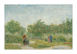 Garden with Courting Couples: Square Saint-Pierre  1887