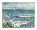 The Sea at Les Saintes-Maries-de-la-Mer, 1888 Giclée par Vincent Van Gogh