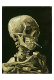 Head of a Skeleton with a Burning Cigarette  1886
