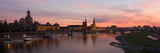 Panorama of the City of Dresden at Sundown