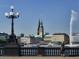 Lake Alster and Town Hall in Hamburg