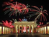Brandenburg Gate with Fireworks
