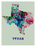 Texas Color Splatter Map
